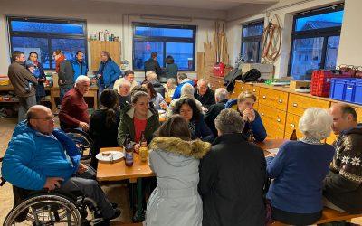 Nachbarschaftgespräche der Parteifreien bei der Zimmerei Lechner (Schloßberg)